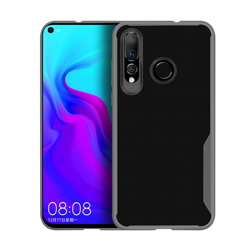 For HUAWEI Y6 PRO 2019 Ultra Slim Translucent Non-slip Shockproof TPU Back Cover Transparent gray