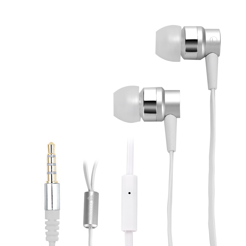 FESTORY F003 In-Ear Bass Earbuds (Silver)