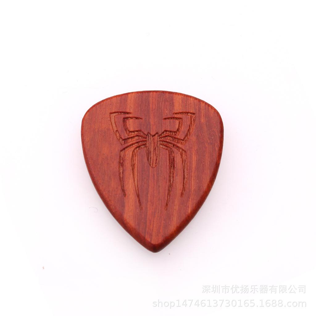 Guitar Picks Plectrum Solid Wood Fingerpicks Musical Instrument Accessories spider