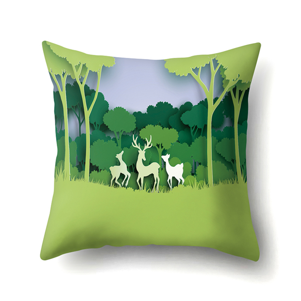 Forest Series Cushion Case with Pattern of Mountain and River Four Seasons 45*45cm CCA414(2)