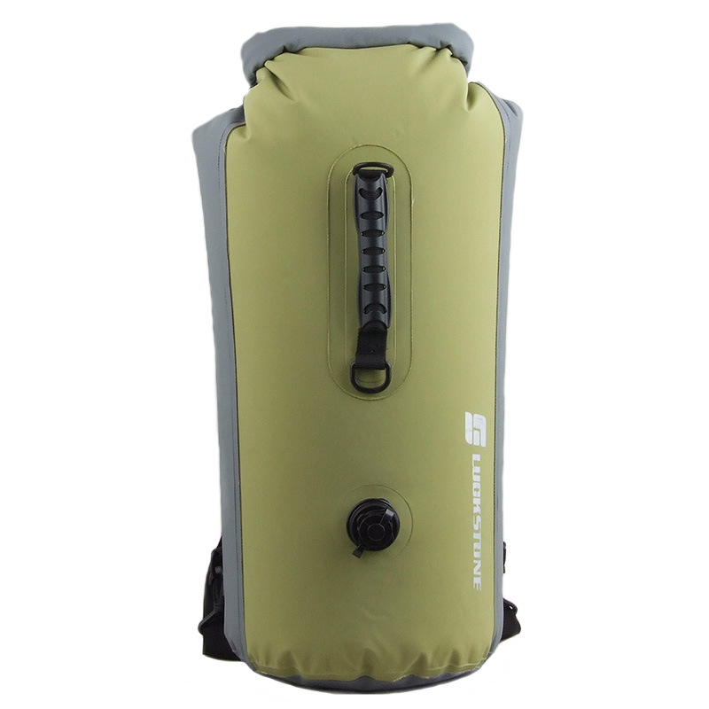 60L Outdoor Backpack Waterproof Bag Rafting Upstream Inflatable Swimming Bag Pvc Waterproof Bag Bucket Bag Bean green_60L