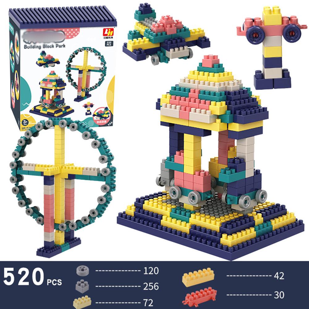 Big Size DIY Construction Compatible Building Bricks Plastic Assembly Accessories Building Blocks Toys 520PCS