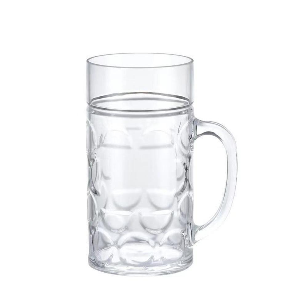 Transparent Acrylic  Beer Mug Tumbler Drinkware Household Bar Accessories