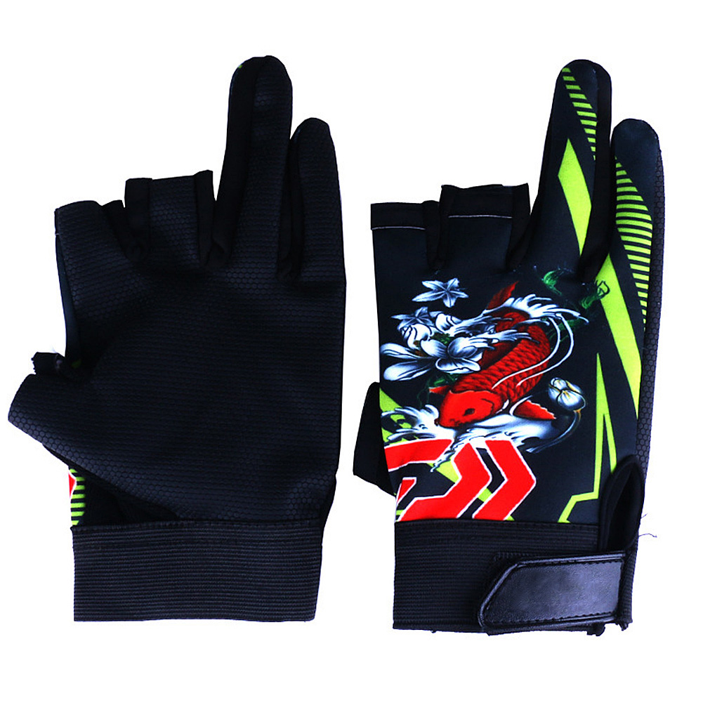 Elastic Non-slip Breathable Wear Resistance 3 Finger Appearing Riding Gloves