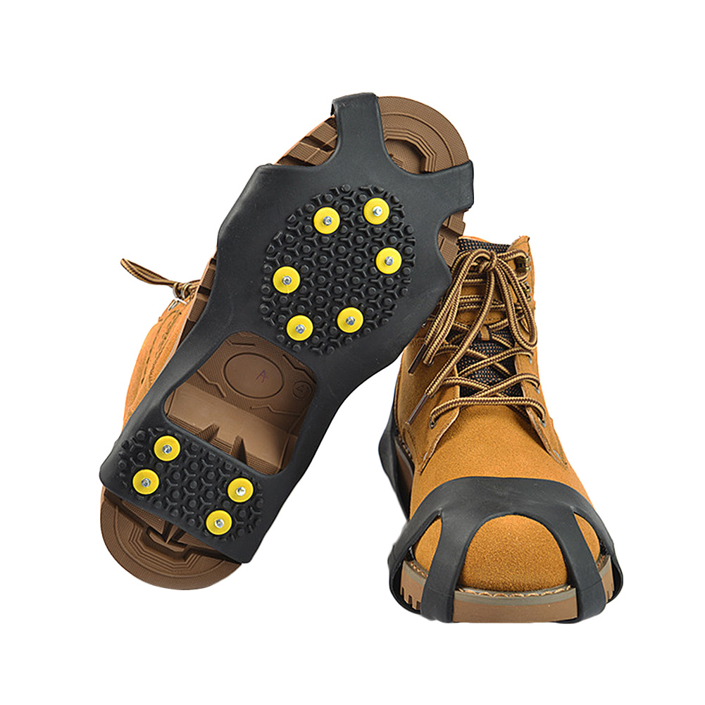 Icegrips Snow Traction Gear Slip on Snow and Ice Cleat Traction Prevent Slipping with 10 Replacement Steel Studs Yellow S