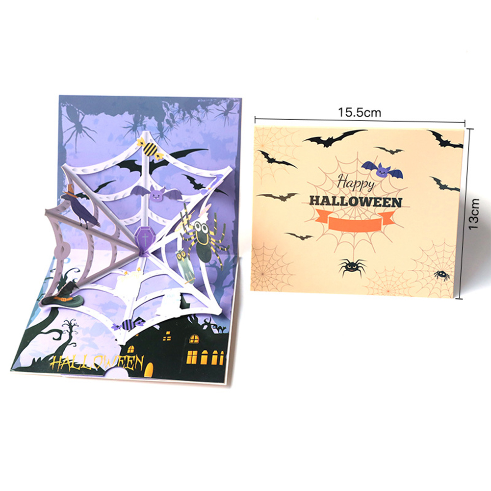 DIY 3D Halloween Series Handcraft Greeting Card Kids Toy Spider