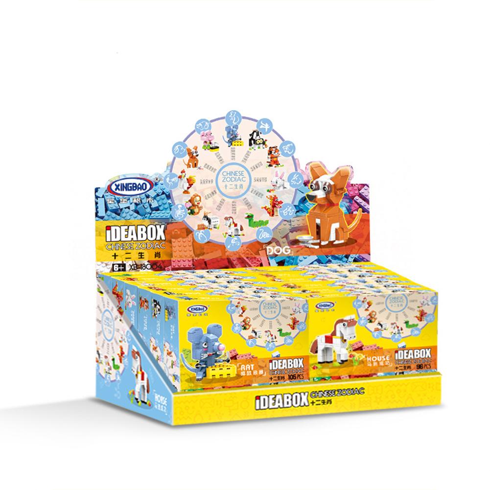 12 Pcs/set Children Building Blocks Cute Animal Shaped Assembled Puzzle Building Blocks Zodiac