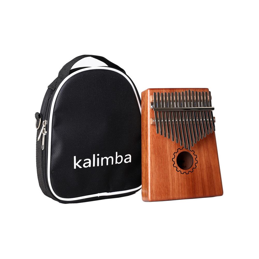 17 Key Kalimba Mbira Calimba African Mahogany Thumb Piano Wood Musical Instrument English version