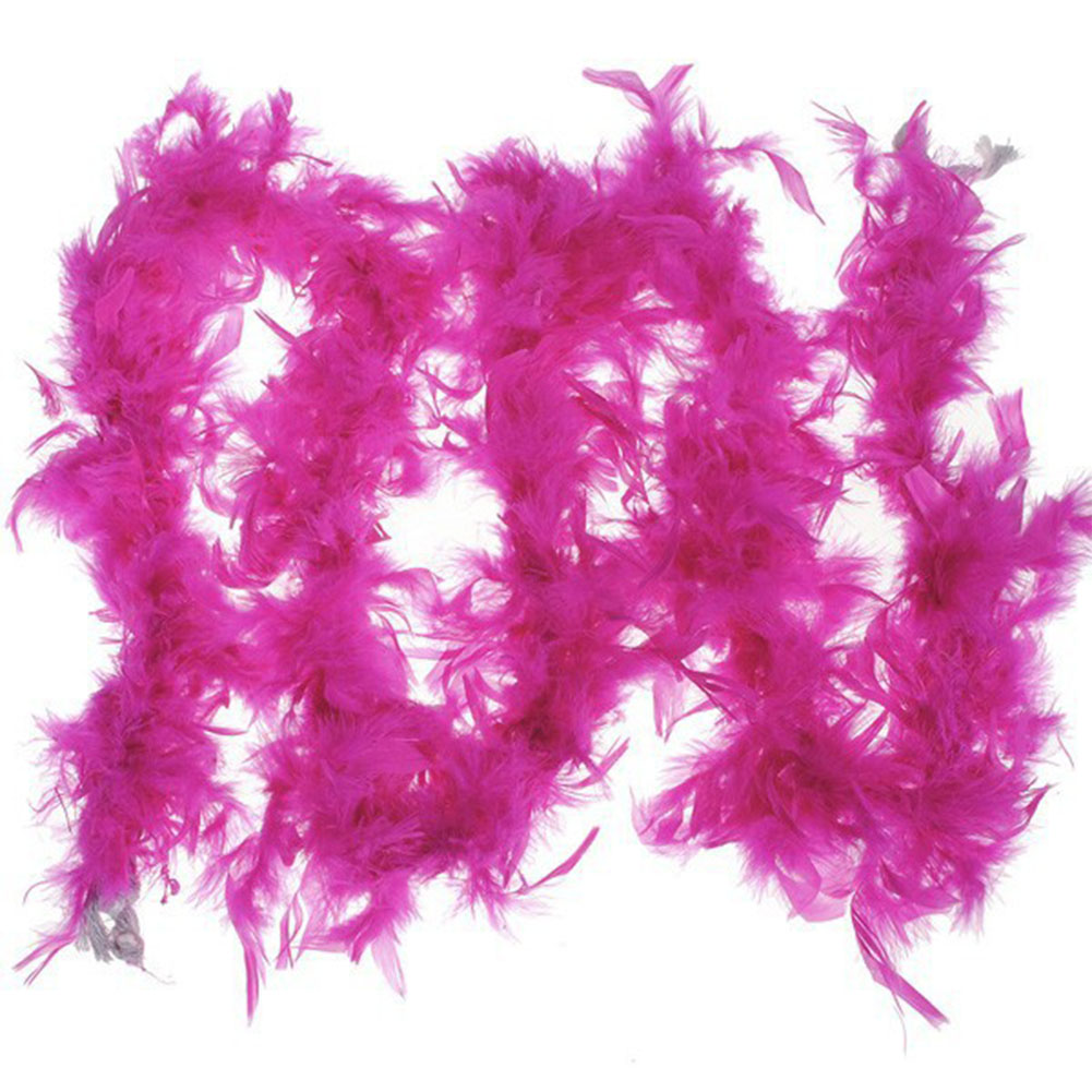 1Pcs 37g 2yards Turkey Feather Strip Wedding Marabou Feather Boa Burlesque Fancy Dress Party Decoration rose Red