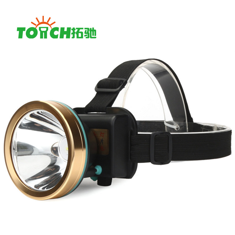 Led Headlight Rechargeable Battery Head Torch 30W Outdoor Fishing Lighting Black suit built-in battery 3 charge + color box