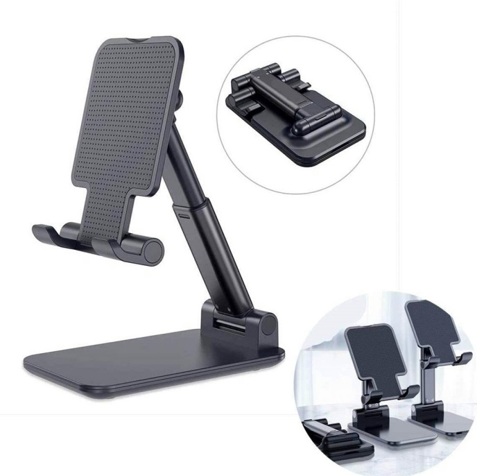 Mobile Phone Stand Folding Bracket for Mobile Phone Tablet PC black