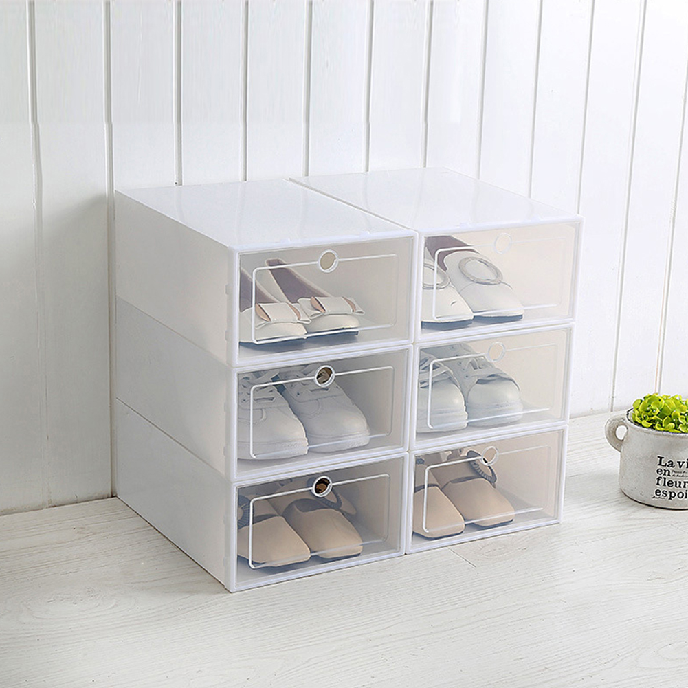 1Pc Transparent Shoes Storage Box with Cover