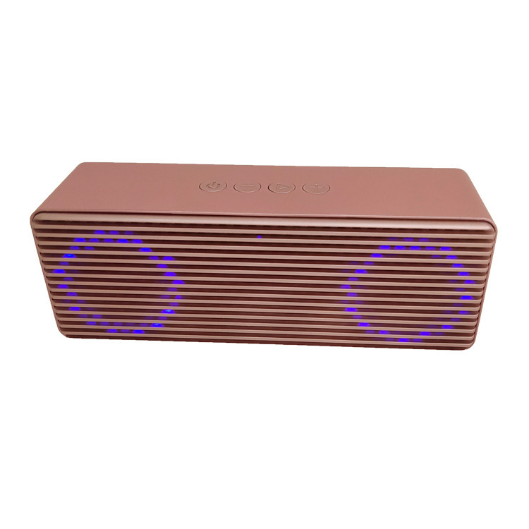 A12 Portable Wireless Speakers with HD Sound Longer Playtime Built-in Mic for iPhone/Samsung/Andriod/PC Glare version of rose gold