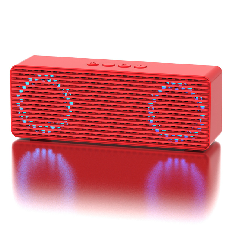 A12 Portable Wireless Speakers with HD Sound Longer Playtime Built-in Mic for iPhone/Samsung/Andriod/PC Glare version red