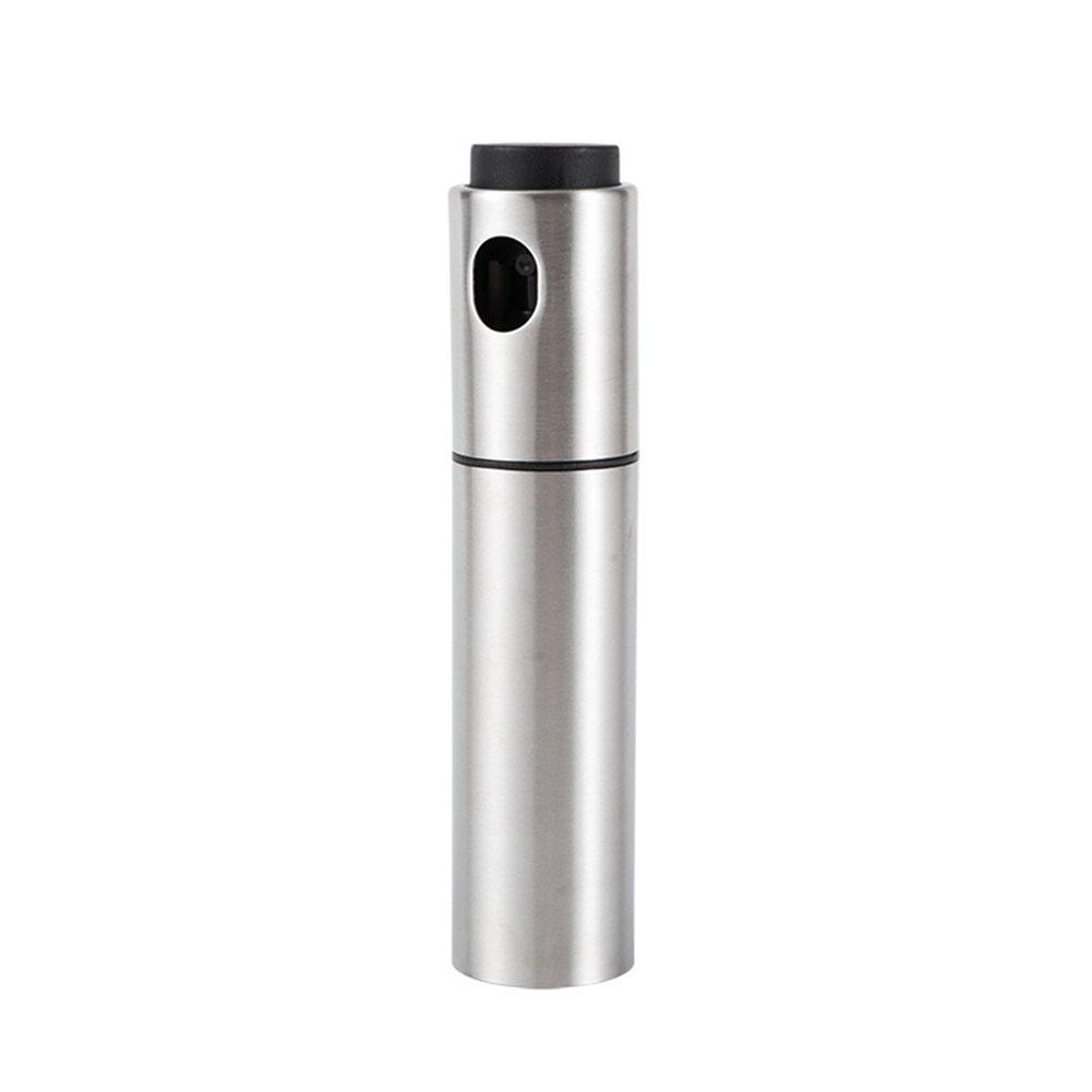 Pump Spray Bottle Fine Mist Stainless Steel Wine Cocktail Bitters Flame Spray Bottle Bartender Bar Accessories Silver