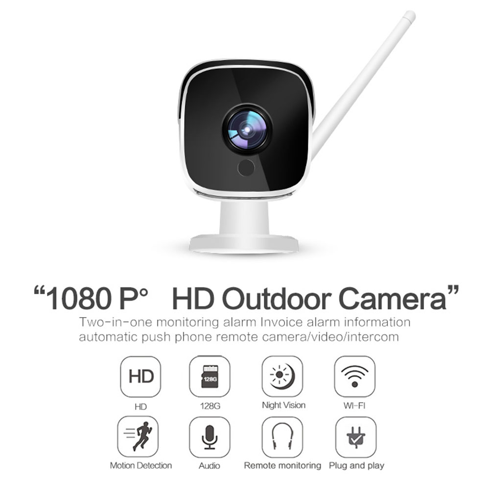 Wifi IP Camera 1080P  Indoor Outdoor EU Plug