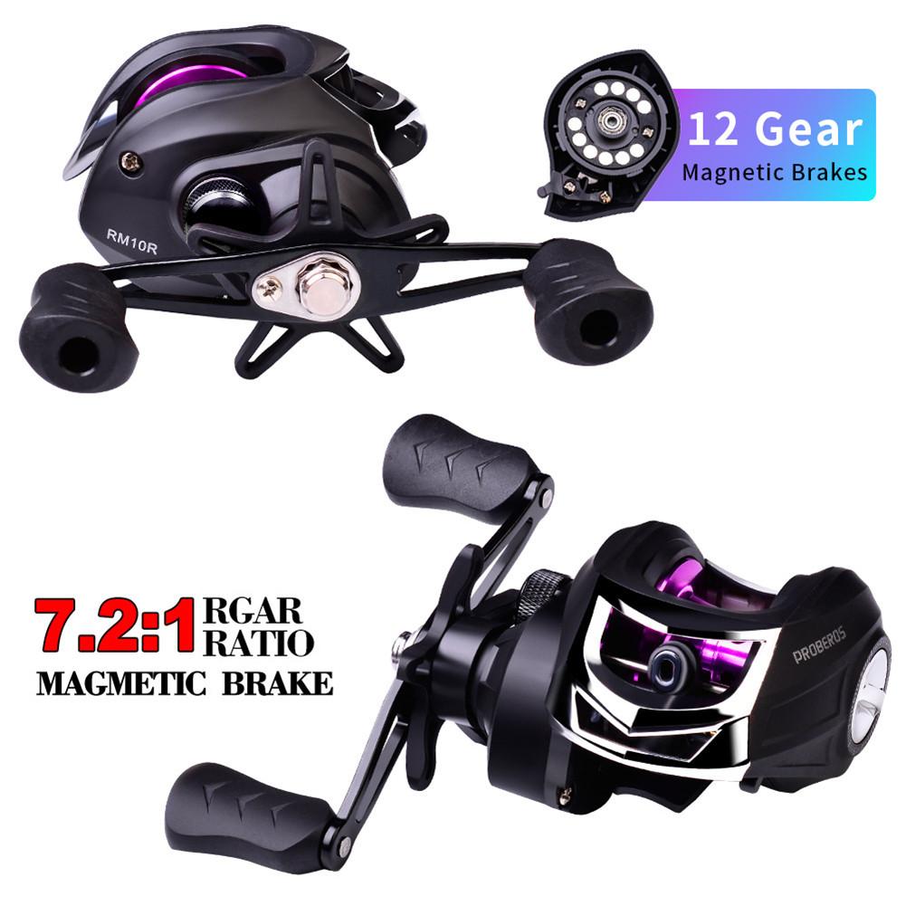 Metal Spool Baitcasting Reel 10kg 7:2:1 Freshwater Fishing Wheel Fishing  Reel rm10_Right hand R
