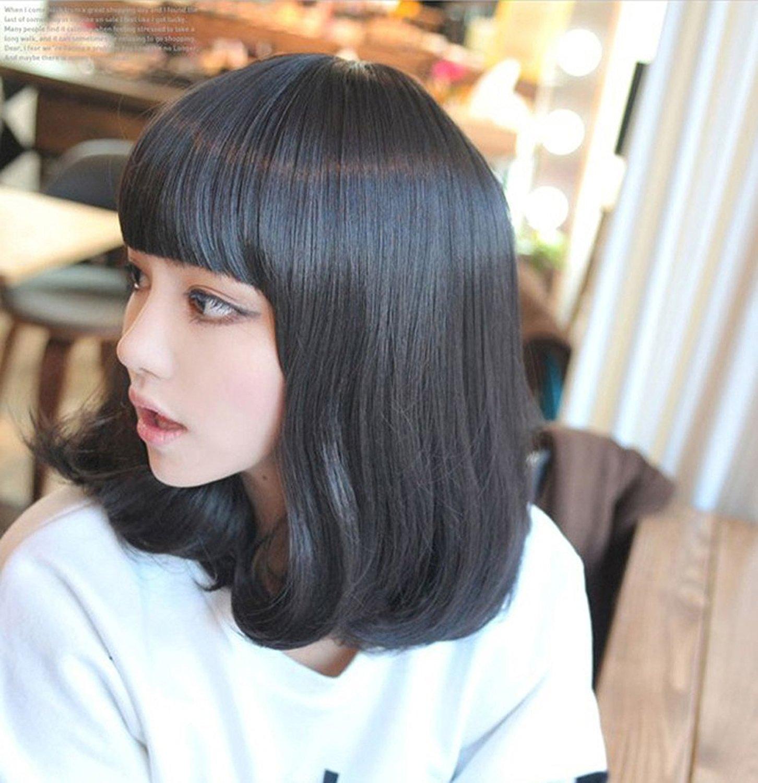 [Unbranded] Medium heat resistant wig for women Black