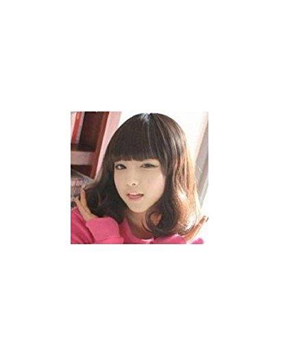 Pear flower head wig dark brown