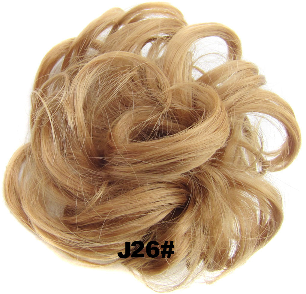 Fashion Synthetic Women Hair Pony Tail Hair Extension Bun Hairpiece Scrunchie Elastic Wedding Wave Curly  J26#