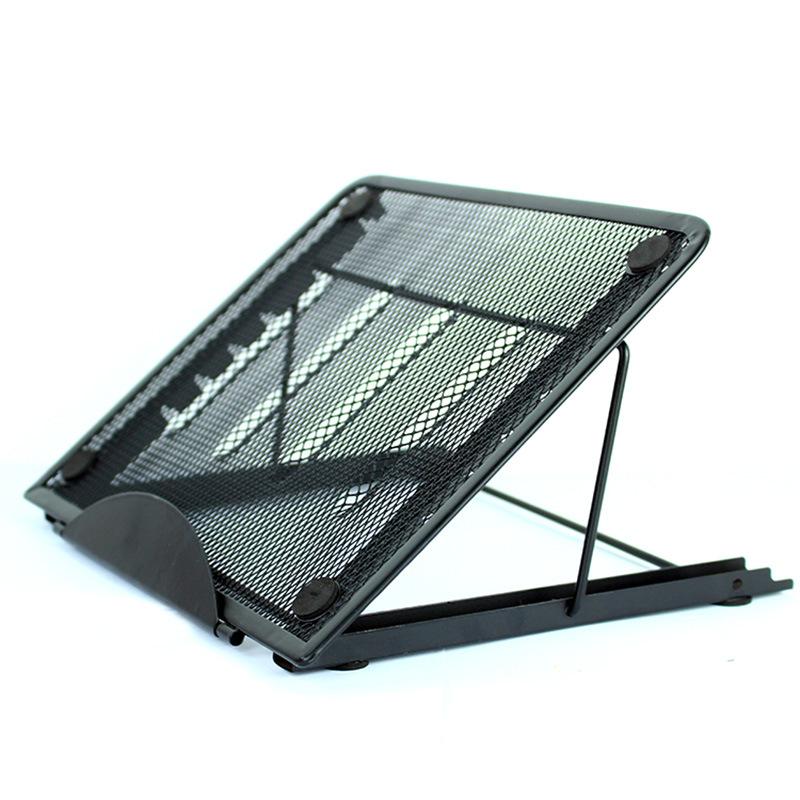 Multifunction Mesh Ventilated Adjustable Laptop Stand black