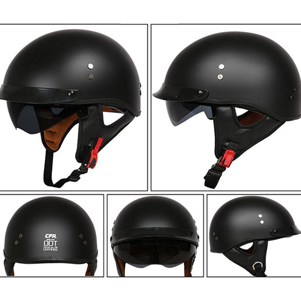 Retro Helemt Half Face Motorcylce Hat FRP Prince Helmet Bright white M