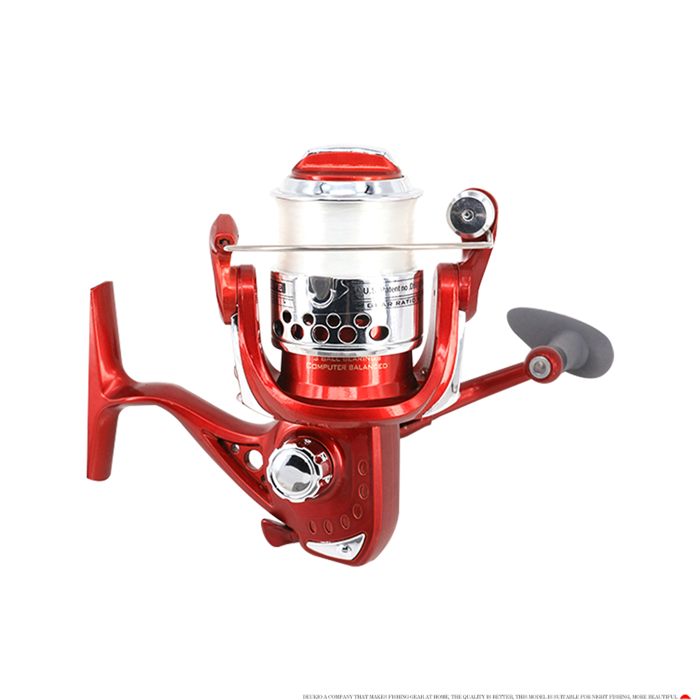 Night Fishing Spinning Reel Luminous Reels with line Fishing Wheel Sea Fishing Rod RLRC30 (left and right hand interchange)