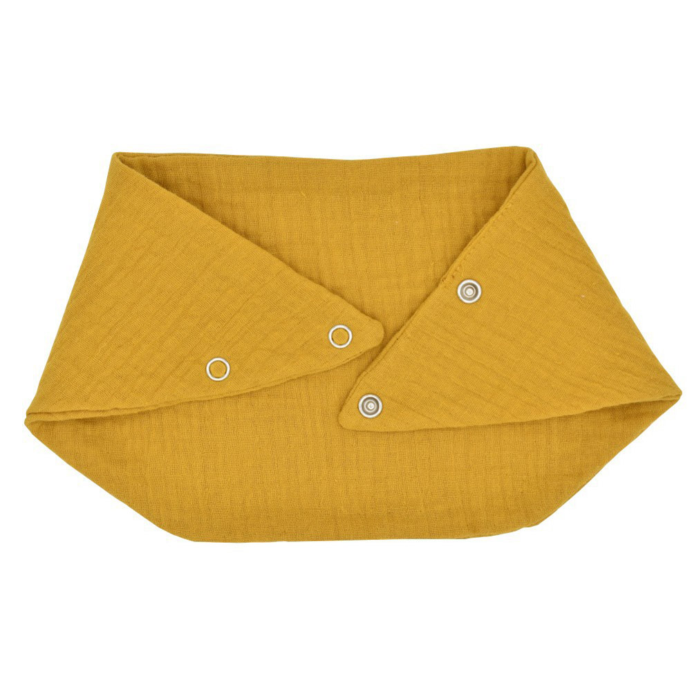 Baby Bibs Baby Cotton Double Layer Bib Scarf Feeding Drool Apron Baby Girl Boy Bib turmeric