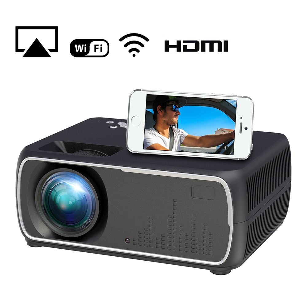 A20 Mini Projector HD 1080P TV Projector Home Cinema Projector  Same screen black US plug