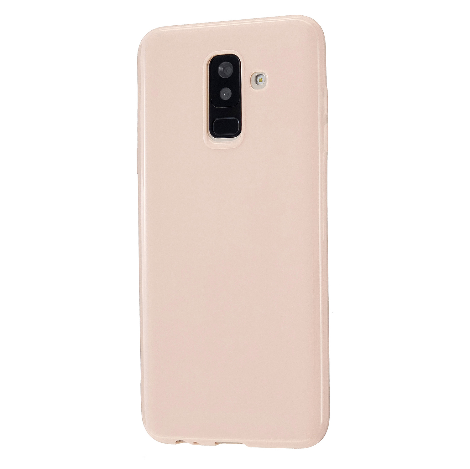 For Samsung A6/A6 Plus 2018 Smartphone Case Soft TPU Precise Cutouts Full Body Protection Mobile Phone Shell Sakura pink