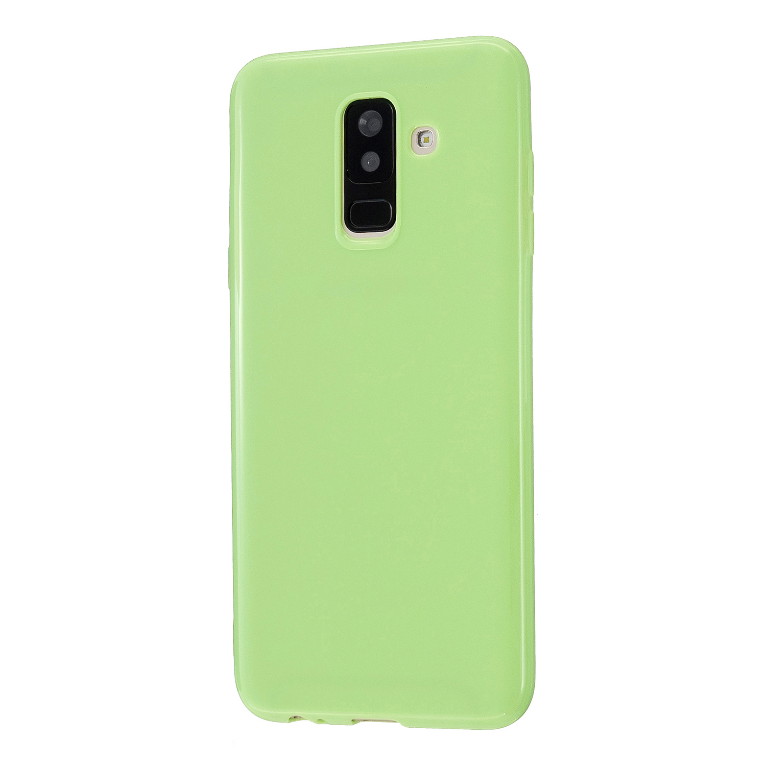 For Samsung A6/A6 Plus 2018 Smartphone Case Soft TPU Precise Cutouts Full Body Protection Mobile Phone Shell Fluorescent green