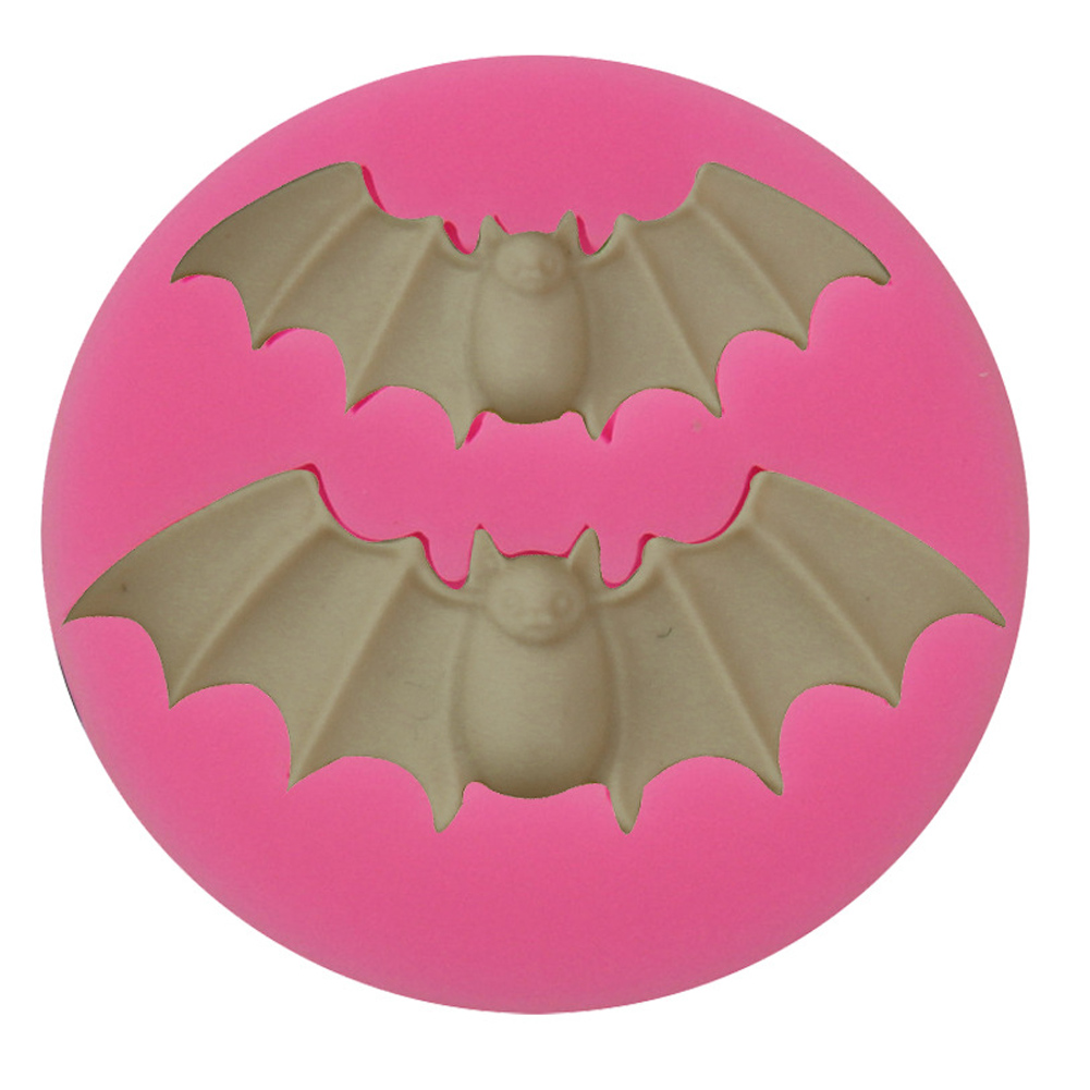 Halloween Bat Terrible Style Liquid DIY Silica Gel Baking Tool for Fondant Cake 5.5*5.5*0.7CM