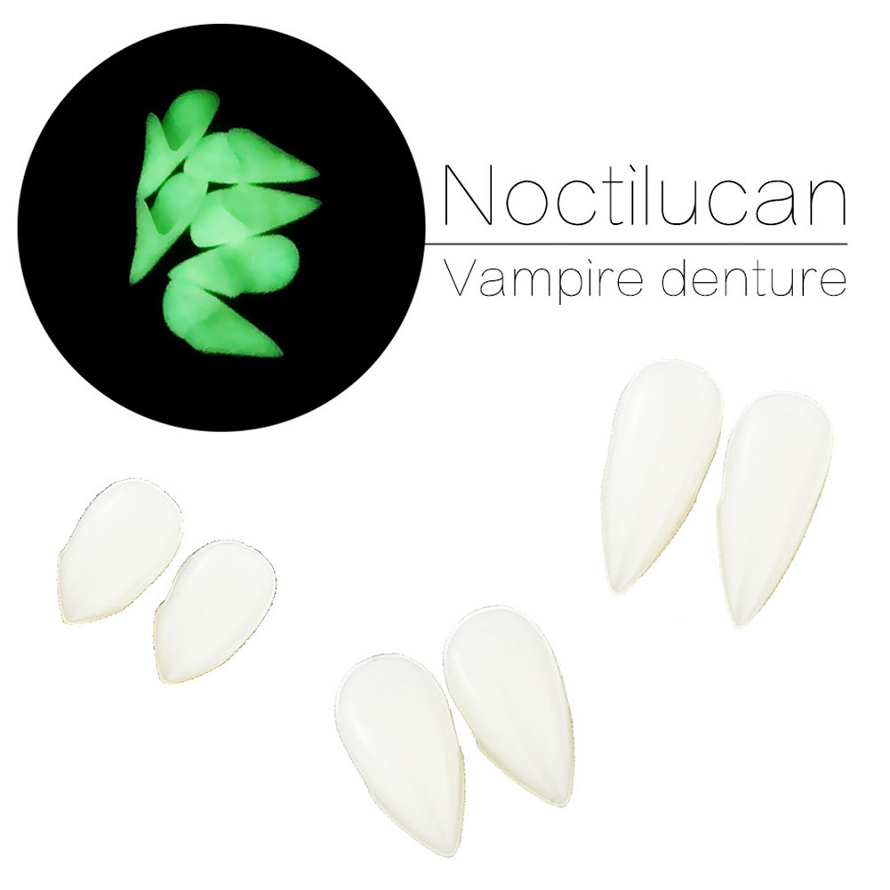 3 size Vampire Teeth Fangs Dentures Props Halloween Costume Props Party Favors Holiday DIY Decorations Horror Adult for Kids 4 piece set