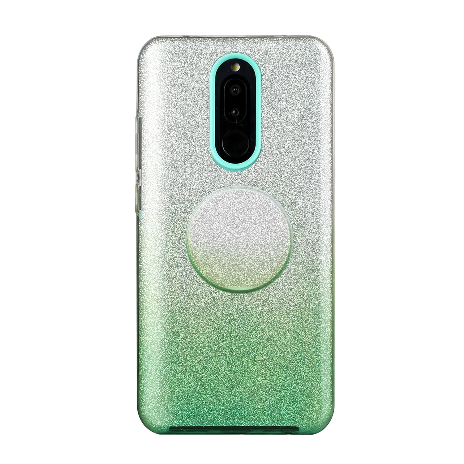 For OPPO F9/F9 Pro/A7X/F11 Pro/A8/A31 Phone Case Gradient Color Glitter Powder Phone Cover with Airbag Bracket green