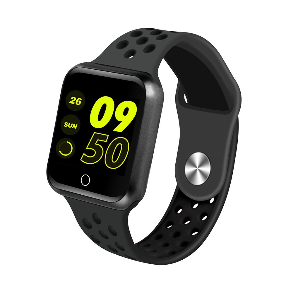 S226 Smart Watch Fitness Tracker Heart Rate Monitor Smart Bracelet Blood Pressure Pedometer  Black shell + all black strap