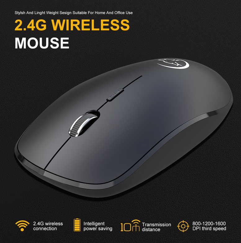 G834 Wireless  Mouse Business Office Household Mouse 2.4g Wireless Mouse Mini Photoelectric Mouse black