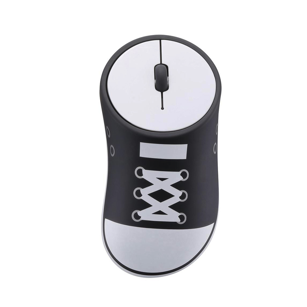 HobbyLane Wireless Mouse Shoes Shaped Portable Mobile Optical Mouse With USB Receiver 2.4GHz Ergonomic Gaming Mouse Black+White