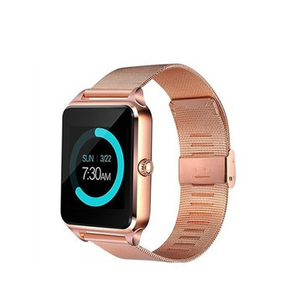 Smart Watch Wristband Sports Fitness Blood Pressure Heart Rate Call Message Reminder Android Pedometer Golden
