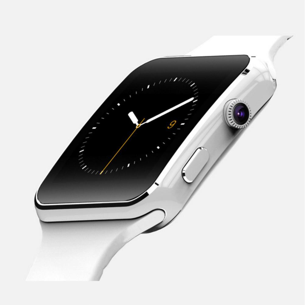 New X6 Curved Screen Smart Watch Card Internet Bluetooth Camera Phone Wristwatch English white