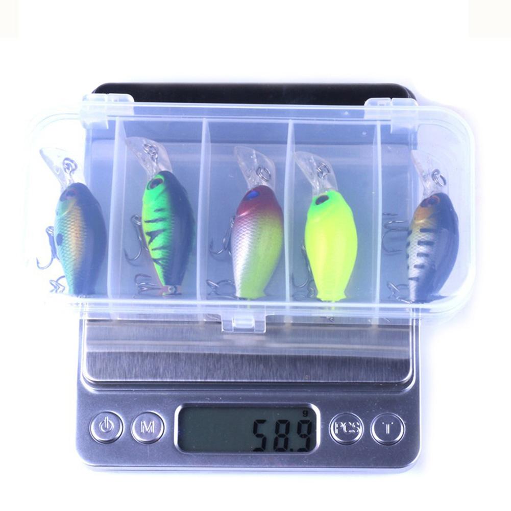 5pcs/box Fishing Lure Set Bait Fishing Swimbait with Fishing Hook Fishing Tackle B