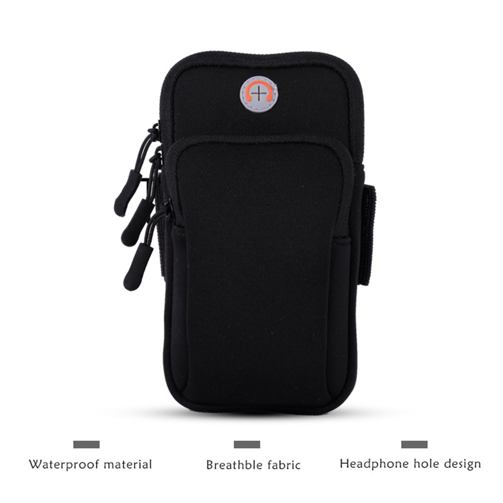Mobile Phone Arm Bag Marathon Night Running Mobile Phone Arm Pack Bicycle Equipment Compatible Universal Waterproof Sports Bracket black