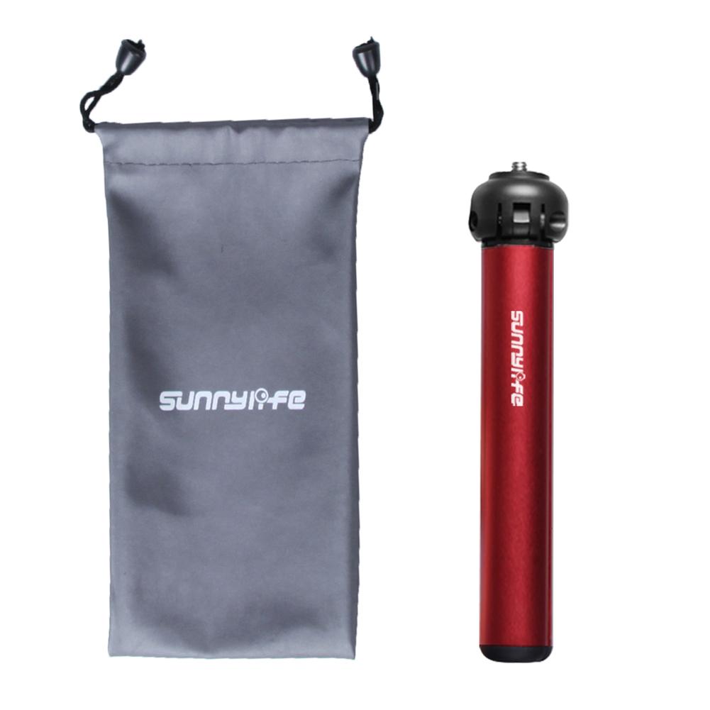 Mini Tripod Aluminum Desktop Bracket Sports Camera  Accessory for GoPro 9 Lingmo OM4  Standard type red