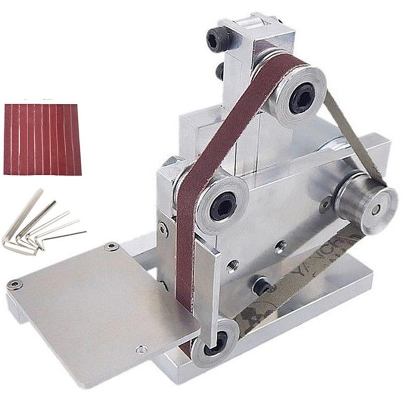 110V Mini Belt Sander Polishing Grinding Machine Cutter Edge Sharpener European plug