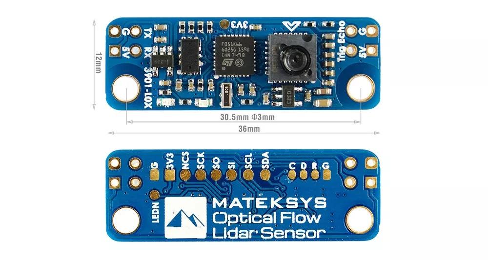 Matek System Mateksys VRX-1G3-V2 / VTX-1G3 1.3GHz FPV Video 2CH 9CH Transmitter 9CH Wid Band Receiver RC Drone Long Range Goggle System Optical Flow Lidar Sensor