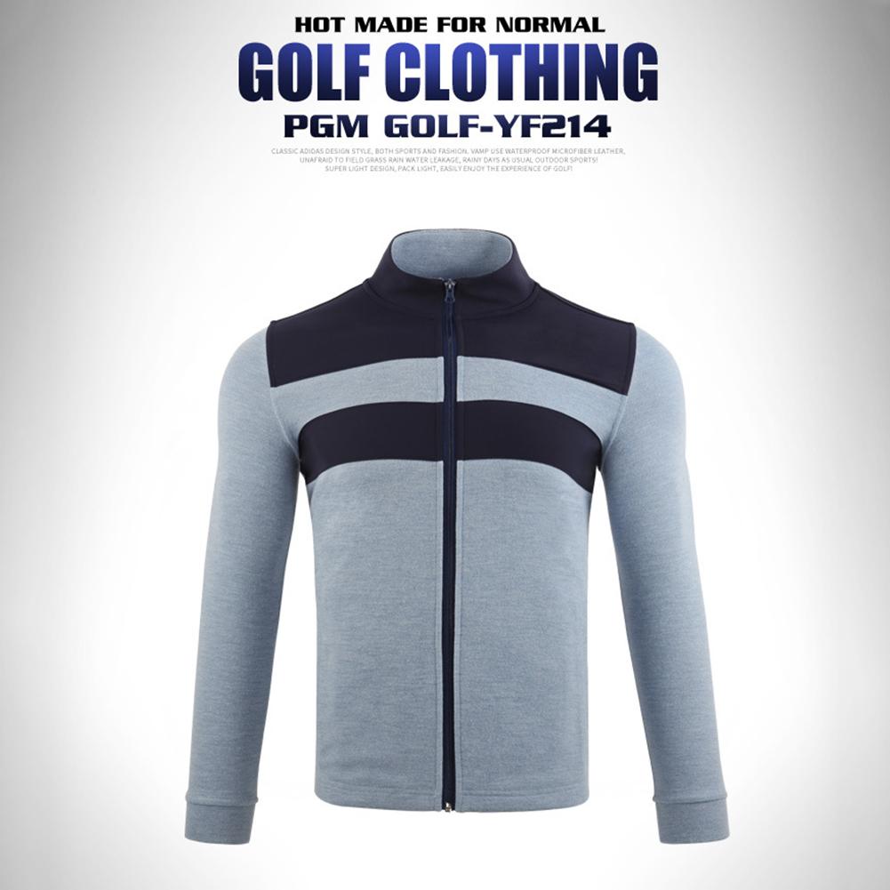 Golf Clothes Autumn Winter Long Sleeve Jacket Warm Knitted Clothes Yf214 light blue_XXL