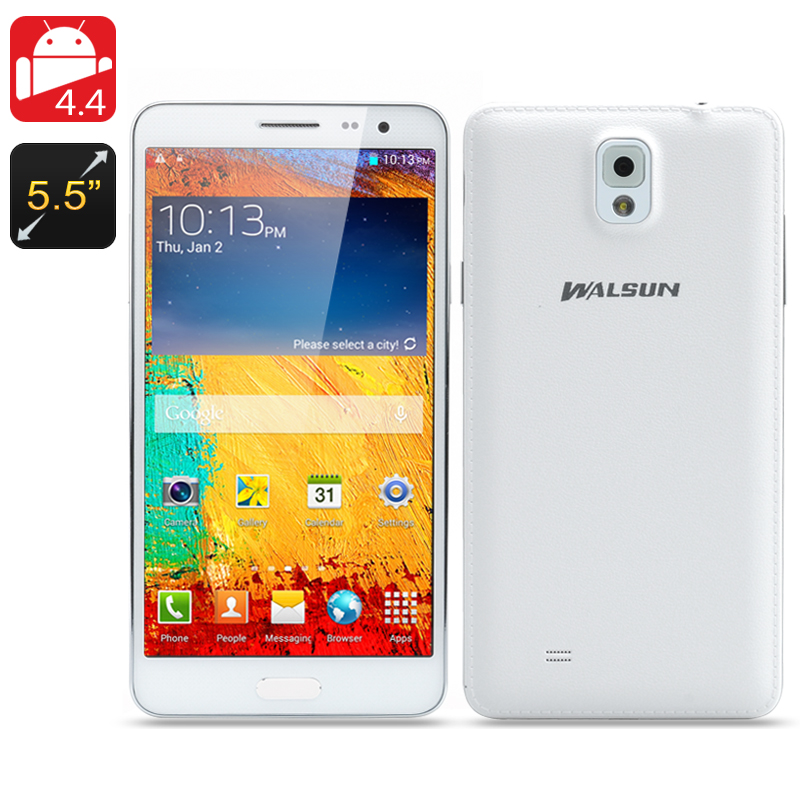 Walsun N9000 Android 4.4 Phone (White)