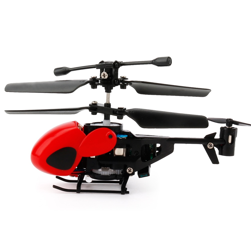 2 Channels Infrared Handle Remote-controlled Helicopter with Gyroscopes Mini Airplane Model Cartoon Intellectual Toy red