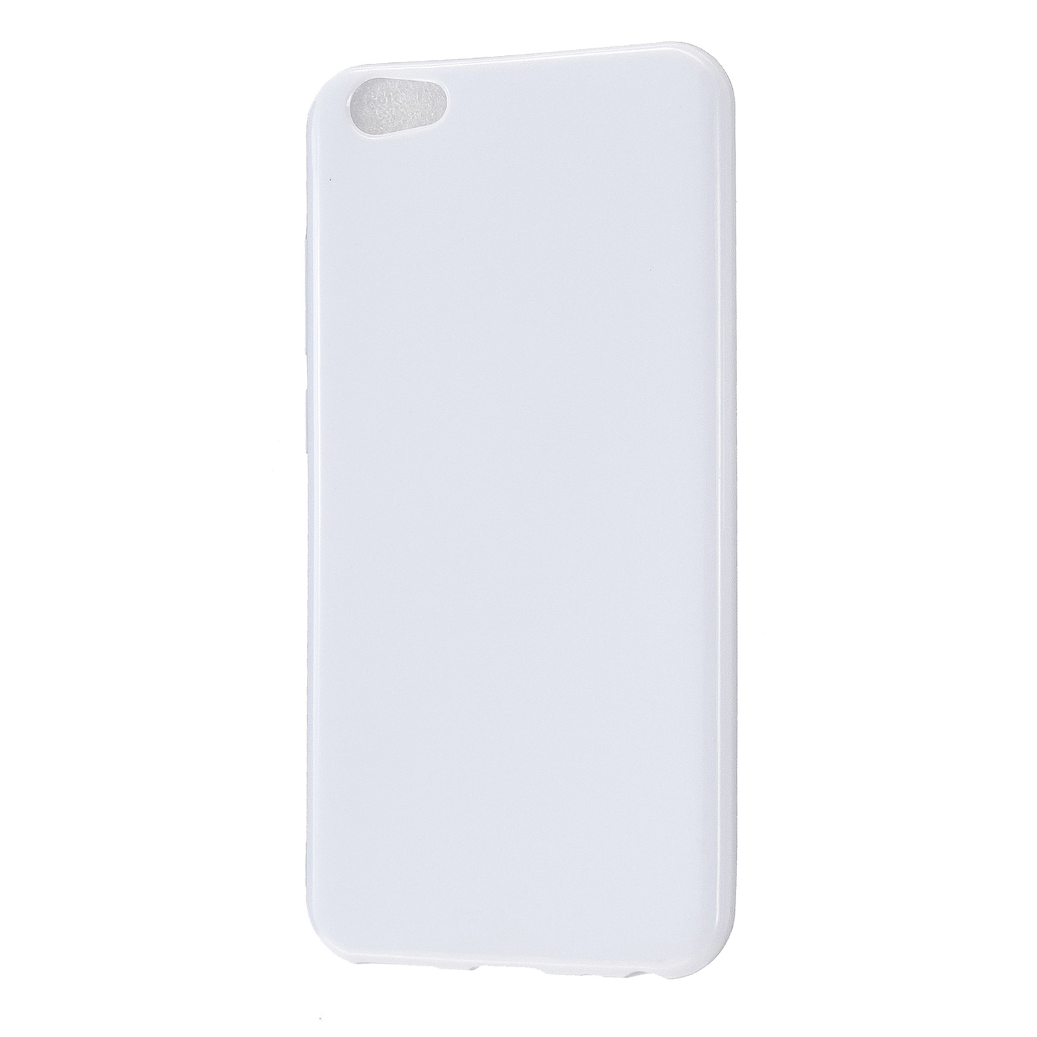 For VIVO Y67/Y71 Cellphone Cover Glossy TPU Phone Case Anti-Dust Stain-proof Easy Install Screen Protector Milk white