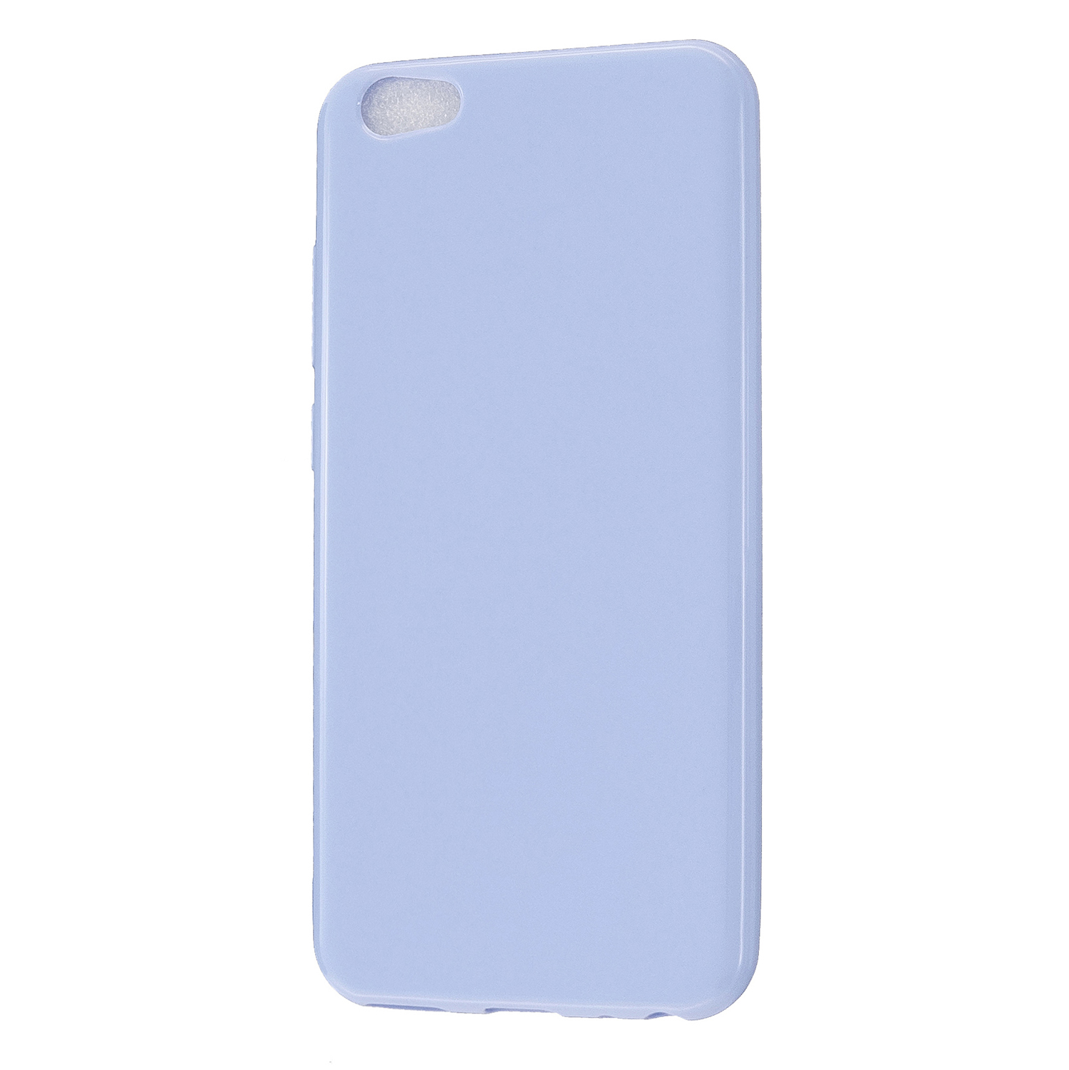 For VIVO Y67/Y71 Cellphone Cover Glossy TPU Phone Case Anti-Dust Stain-proof Easy Install Screen Protector Taro purple