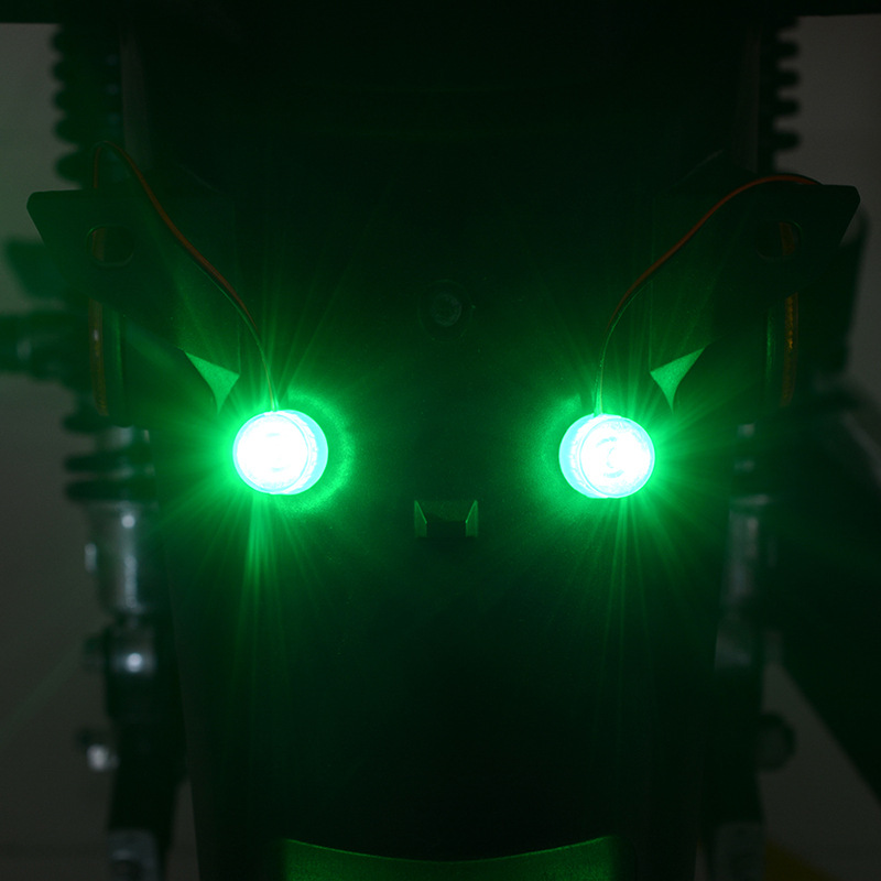 Motorcycle Modification Parts General Electric Vehicle Decorative Lantern Super Bright Led Brake  Tail  Light Green Flash